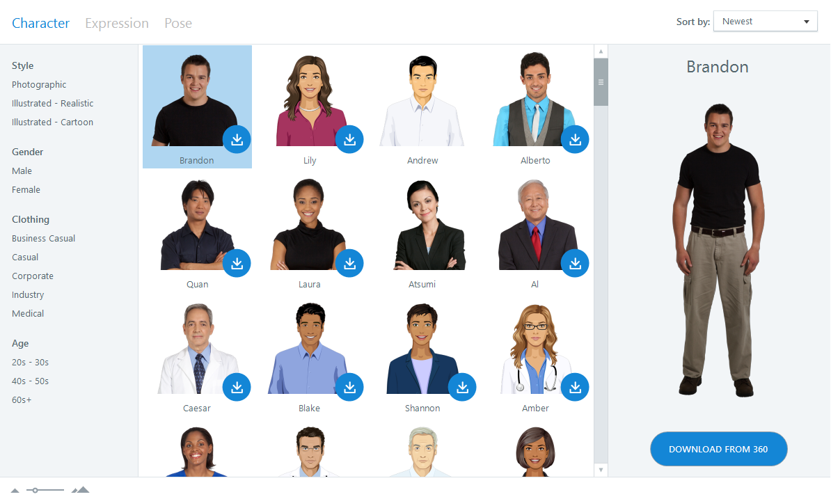 New Characters in Storyline 360