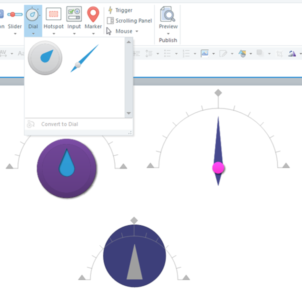 Insert a Dial - Interactive Objects in Storyline 360